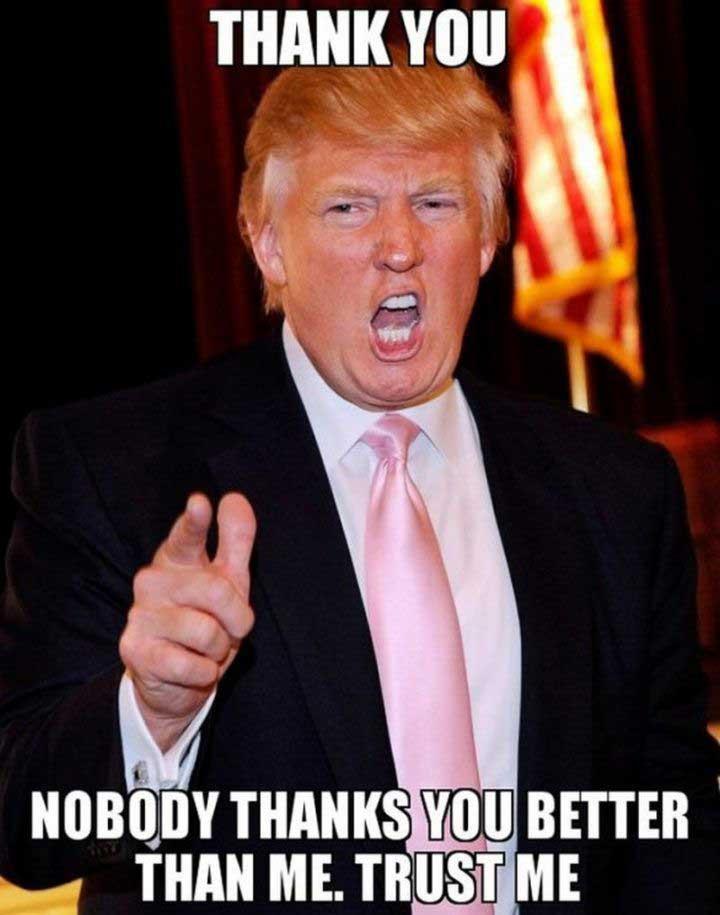 President Trump Thank You Memes Zip
